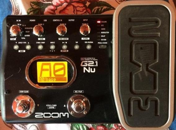 Pedaleira G2.1nu Multi Efeitos Para Guitarrra Zoom G2.1nu G2