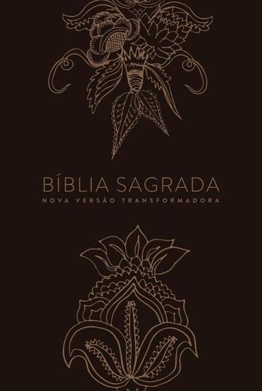 Biblia Nvt Ln - Indian Flowers - Dourada - Mundo Cristao