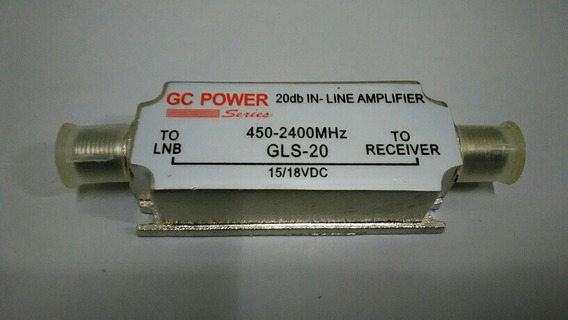 Amplificador De Linha 20db Para Lnb 450-2400mhz Parabolica