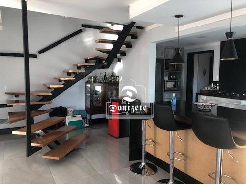 Cobertura Com 3 Dormitórios À Venda, 193 M² Por R$ 2.200.000,00 - Jardim - Santo André/sp - Co11459
