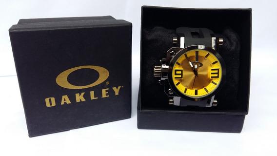 Relogio Masculino Oakley Gearbox Titanium Barato, Com Caixa