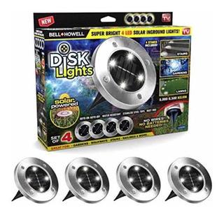 Bell + Howell, Disk Lights Led De Luces 4 Pzs,las Originales