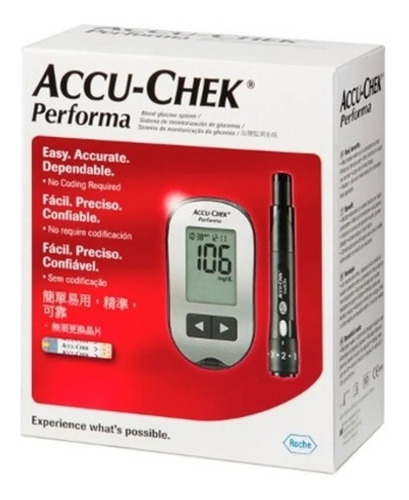 Glucómetro Accu Chek Performa Kit Completo Medidor Glucosa