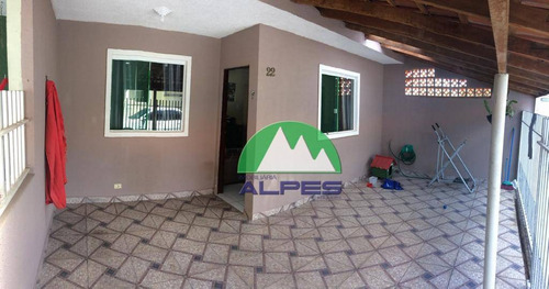 Casa Com 2 Dormitórios À Venda, 46 M² Por R$ 135.000 - Iguaçu - Fazenda Rio Grande/pr - Ca0439