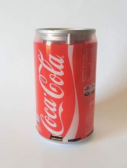 Mini Caixa Caixinha Som Portátil Mp3 Fm Sd Usb Coca Cola