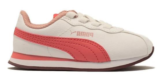 Puma Zapatillas Lifestyle Niña Turin Il C Blanco- Rosa