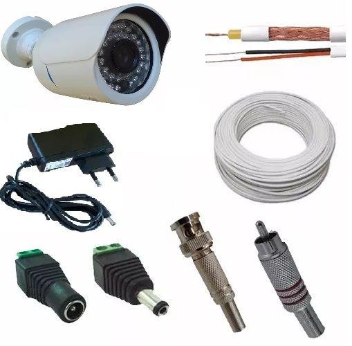 Kit Câmera Para Ligar Direto Tv+30 Mts Cabo+conectores+fonte