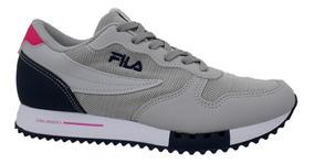 Tênis Fila Feminino Euro Jogger Sport 802952 Prata Marinho
