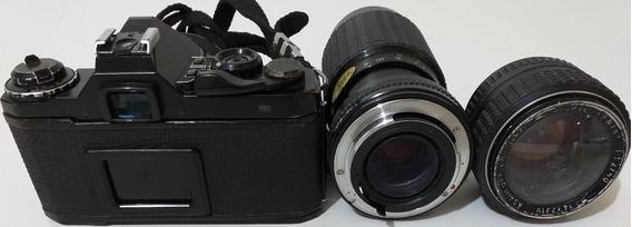 Máquina Fotográfica Pentax -me Super- Com Acessórios