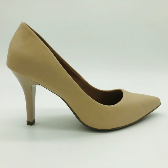 Scarpin Mozione Sapato Bico Fino Salto 9 Cm Conforto Macia