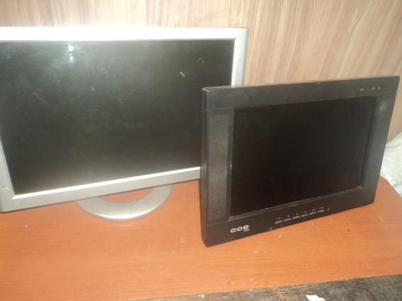 Lote C/ 2 Monitor Antigo Fino/computador/nao Funciona /retir