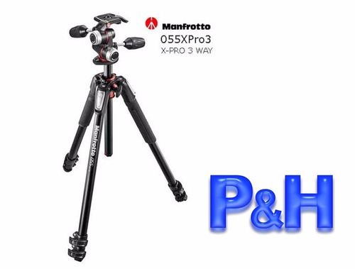 Manfrotto 055 Xpro3 3w En Kit + Cabezal Foto 3d  P&h.