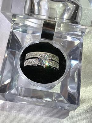 Anel Noivado , Casamento , Compromisso Em Prata 925 Maciça