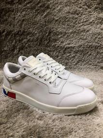 Sapatenis Louis Vuitton Em Couro Branco / Preto - Promoção