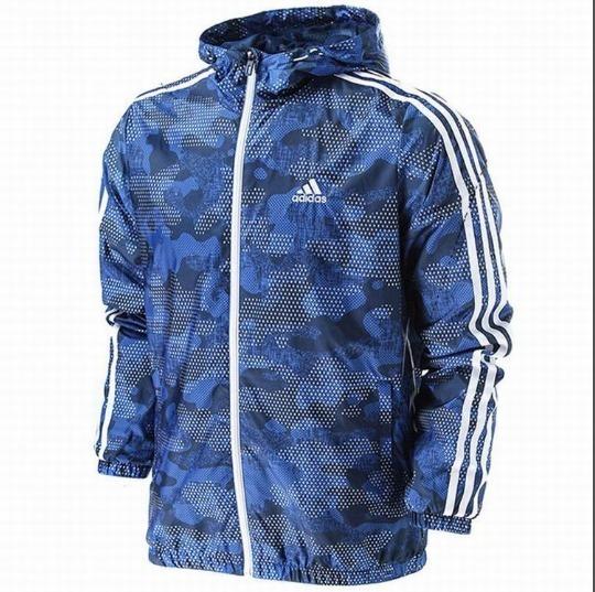 Jaqueta Corta Vento adidas Azul Masculina Impermeável Azul