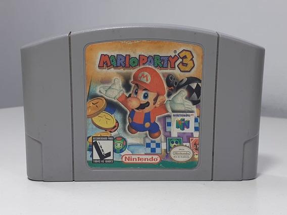 Mario Party 3 Nintendo 64 Original Nacional Labels Originais