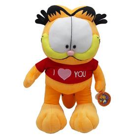 Pelúcia - Gato Garfield Grande 46 Cm Eu Amo Você Bbr Toys