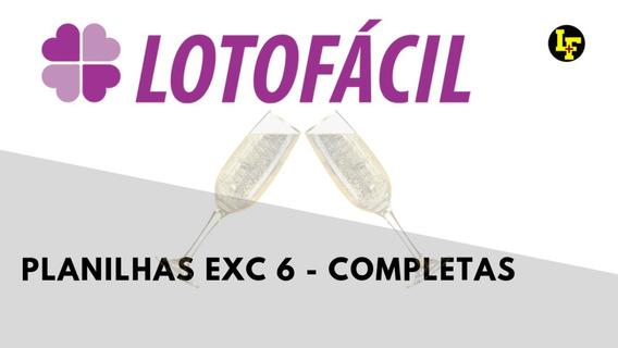 Planilha Para Lotofácil - Exclua 6 Dezenas E Faça 15 Pontos!
