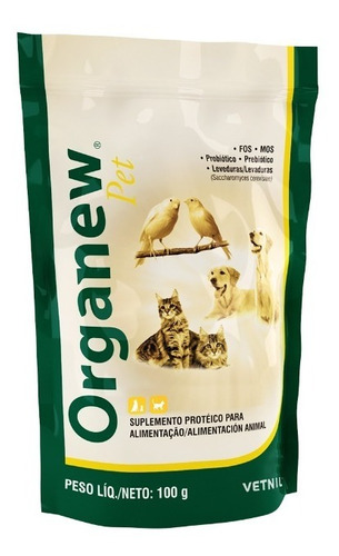 Organew Pet Suplemento Aminoácido 100 Grs Vetnil