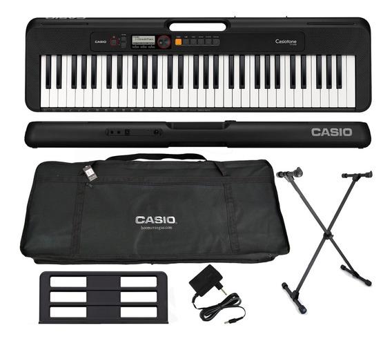 Kit Teclado Casio Tone Ct-s200 Musical 61 Teclas Preto
