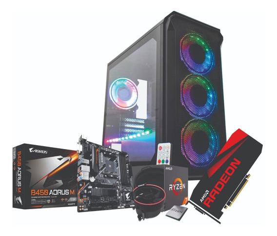 Pc Gamer Ryzen 2700 Gpu Rx 570 8gb Ram 2x8gb Ssd 240gb 650w