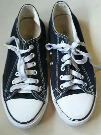 Zapatos Colegiales Unisex Talla 40, En Perfecto Estado 12$