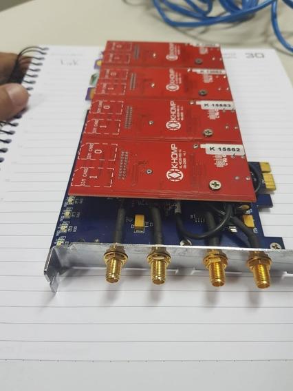 Placa Khomp Kgsm-40spx C/4mód.gsm P/interafce Envio T.brasil