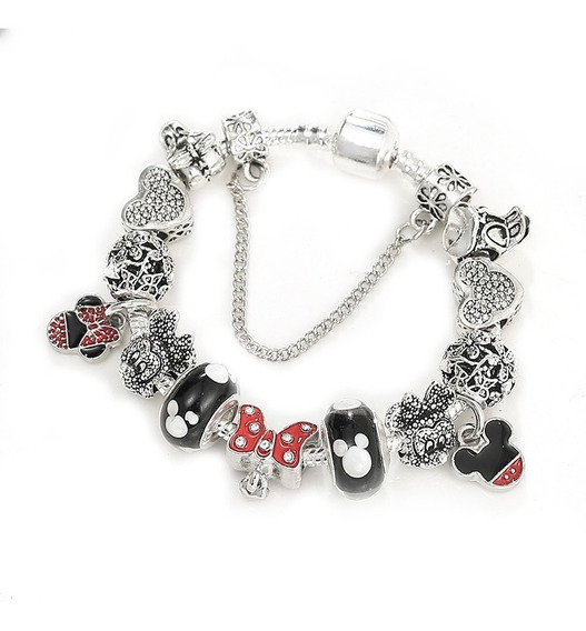Pulseira Estilo Pandora Completa Disney Minnie