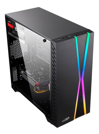 Gabinete Pc Gamer Sentey X10 Rgb Acrilic Usb 3.0 Mexx