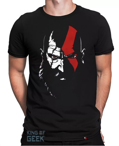Camiseta Kratos God Of War Camisa Gamer Nerd Jogo Blusa Geek