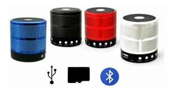 Caixinha De Som Mni Bluetooth Mp3 Fm Sd Kit C/6 Pç