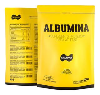 Albumina Naturovos 500g - Natural - Hipertrofia Muscular -