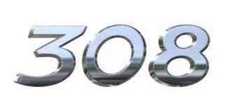 Monograma Numeros Peugeot 308 2.0