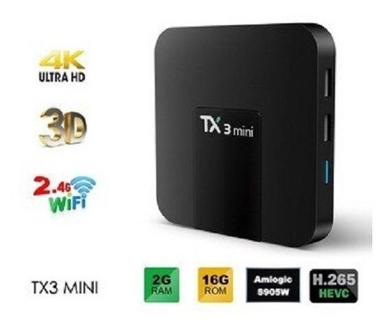 Aparelho Tv Box Android Tx3 Mini S905w 2gb 16gb