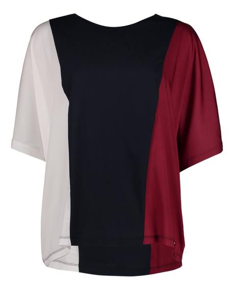 Tommy Hilfiger Blusa Para Mujer Blanco Mod Ww0ww25188-903