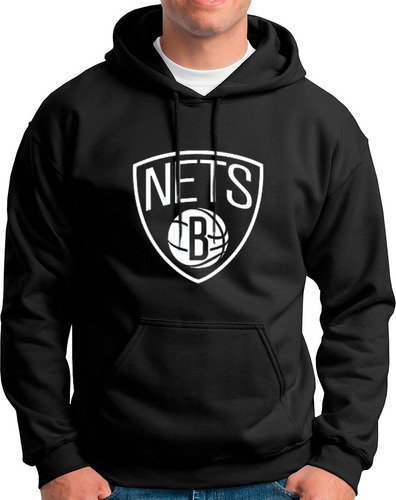 Imagen 1 de 2 de Sudadera Basketball Brooklyn Nets!!