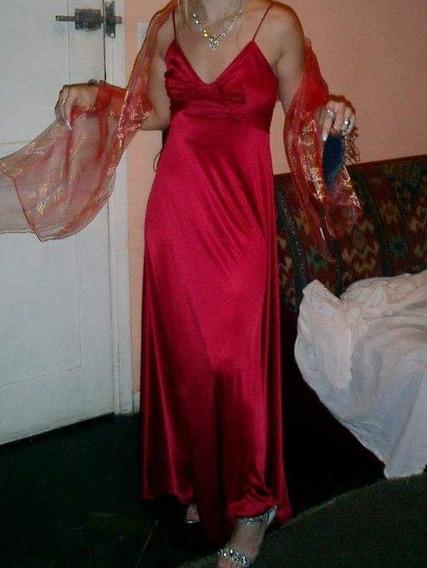 Vestido Fiesta Largo Importado Xs Mujer Largo Rasado