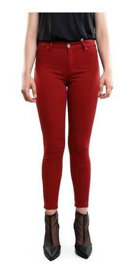 Pantalon Skinny Mujer Sin Estampado Color Rosa Lob