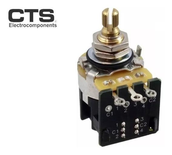Potenciometro Cts 500ka Premium Dpdt Audio Push-pull