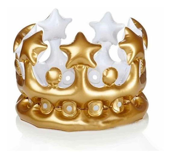 Corona Inflable Cumpleaños Rey O Reyna
