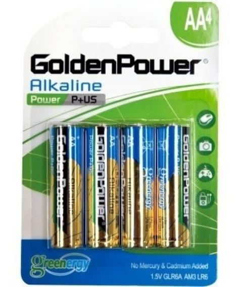 16 Pilhas Aa Alcalina Golden Power 04 Cart (ideal P Xbox)