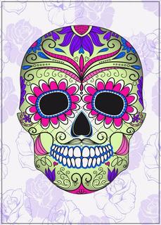 Gravura Grande 60x84cm Decoração Bar Mexicano Caveira Poster