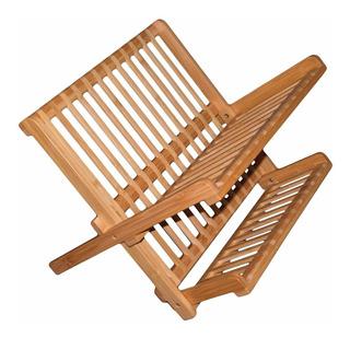 Escurridor De Bambú Para Platos