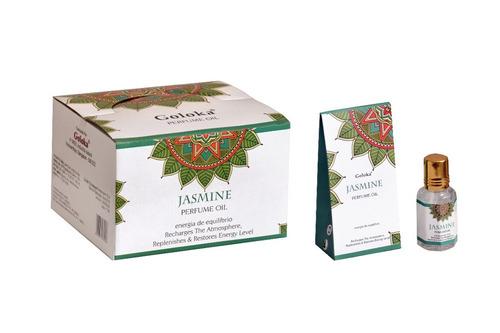 Imagem 1 de 1 de Óleo Perfumado Indiano Goloka Jasmim 2un.10ml - Equilíbrio