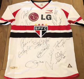 Camisa São Paulo 2002 De Jogo Autografada 12 Jogadores
