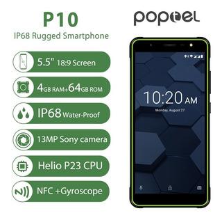 Poptel P10 Teléfono Robusto 4g Móvil Teléfono Ip68 A Prueba