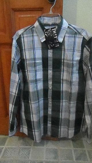 Camisa Casual Caballero Manga Larga Marca That`s It Grande