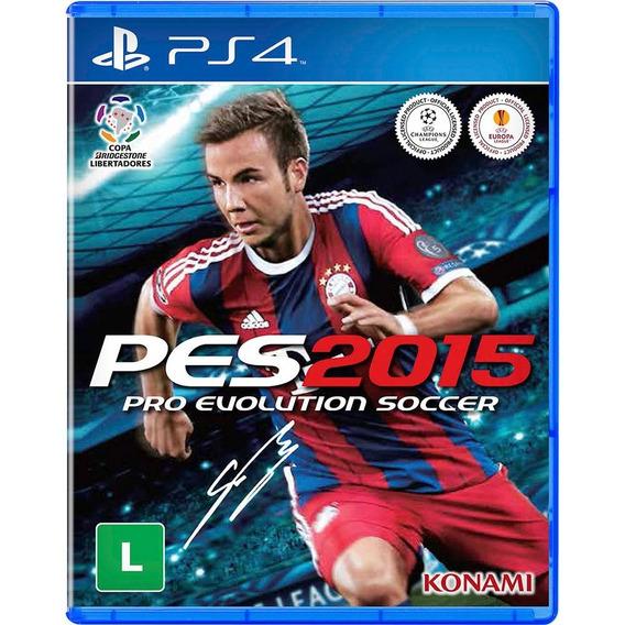 Game Ps4 Pes 2015 - Original - Novo - Lacrado