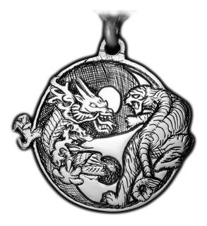 Dijes Tigre Y Dragon De Plata 925