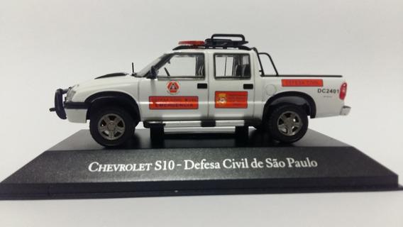 Veículos De Serviço - Chevy S10 - Defesa Civil Sp - 1/43